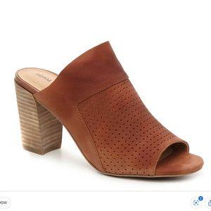 ⬇️NWT ADAM TUCKER Leather Peep Toe Slip On Mule